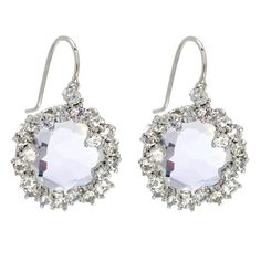 SALE-Suzanne Kalan White Topaz and Sapphire Frosted Earrings