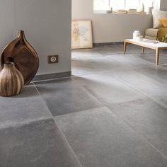 Carrelage sol et mur anthracite effet béton Harlem l.40 x L.80 cm 32.95 € / m² soit 31.63€ / Carton