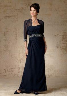 323fd0b4c7 A-line Strapless Floor-length in Chiffon Mother of the Bride Dress    Parisbonbon