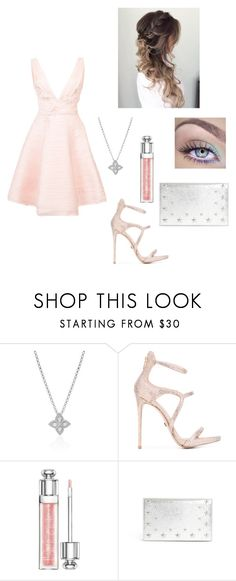 """Untitled #942"" by fleurameliedelacour ❤ liked on Polyvore featuring Roberto Coin, Le Silla, Christian Dior, Jimmy Choo and Notte by Marchesa"