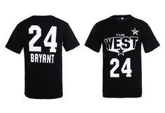 discount new era fitted caps , NBA all-star Kobe Bryant T-shirt black  US$16.9 - www.tidehats.com Nba T Shirts, Nba Los Angeles, New Era Fitted, Fitted Caps, Kobe Bryant, All Star, Upcycled Clothing, Hoodies, Clothes