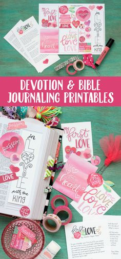 FREE Devotion + Bible Journaling Printables | Illustrate your faith with these hand-lettered cards, tabs, and circles! pitterandglink.com