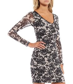 Floral Mesh V-Neck Long Sleeve Sheath Dress #Sponsored #Neck, #advertisement, #Mesh, #Floral Korean Fashion Casual, Dillards, Sheath Dress, Hemline, V Neck, Floral, Clothes, Shopping, Dresses