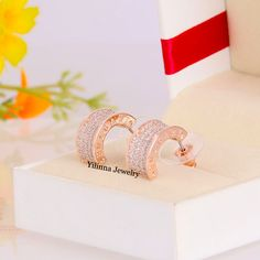 Cheap earrings crown, Buy Quality earrings porcelain directly from China earrings swarovski Suppliers:           The material of the item: Zinc alloy plated rose gold with Austria crystal    Eco-friendly plated , Nickel and