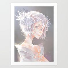 rukia bleach - ice queen Art Print by Lüleiya | Society6