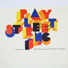 Playstreet logo, art direction: Annegret Beier, Herb Lubalin Inc, lettering by Tom Carnase (? Japanese Typography, Cool Typography, Typography Letters, Typography Poster, Lettering, Calligraphy Letters, Graphic Design Posters, Graphic Design Typography, Logo Design