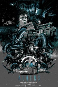 Cool Geek Film Poster Art For ALIENS, THE MARTIAN, THE LOST BOYS, and More