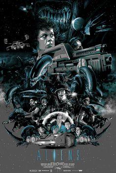 """""""Aliens""""by Vance Kelly via Cool Geek Film Poster Art... - geektyrant"""
