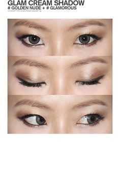 Asian eyes makeup. two eyeshadows.【STYLENANDA】