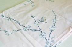 Vintage Pink Tablecloth with Cherry Blossoms and by tracinicole, $22.00