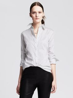 Fitted Non-Iron Micro-Dot Shirt