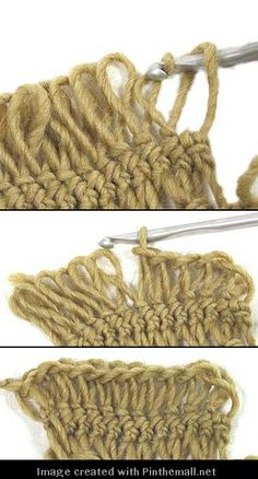 clear tutorial from stitchdiva on cable join for edge of hairpin lace crochet piece