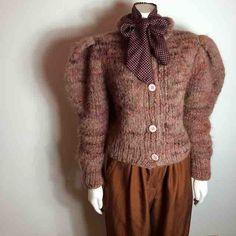 We ❤️mauve❤️this hand knit vintage sweater! Available @rosebowl_fleamarket this Sunday! With a poke-a-dot vintage RL scarf and silk 1980s pants! #vintagefashion #vintagelove #vintagestyle