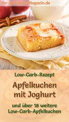 Fast, low-carb apple pie with yoghurt - recipe without sugar - Quick apple pie . - Fast, low-carb apple pie with yoghurt – recipe without sugar – Quick apple pie with yoghurt: lo - Apple Pie Recipes, Yogurt Recipes, Healthy Dessert Recipes, Keto Snacks, Low Carb Recipes, Quick Recipes, Dinner Recipes, Law Carb, Fast Low Carb
