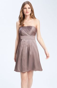 Jenny Yoo Collection Hammered Satin Strapless Dress available at Nordstrom.  This dress can be Special Ordered in additional colors.  Please contact the Wedding Suite at Nordstrom Village of Merrick Park for details.