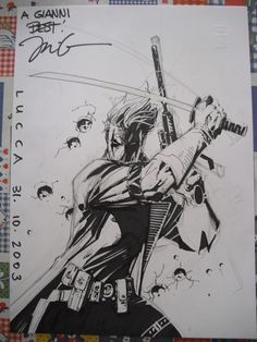 Grifter - Jim Lee, in the April 2011: Your Favorite Convention Sketch Comic Art Sketchbook