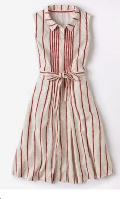~~~Try stitch fix today! The latest fashions picked by your own personal stylist delivered right to your door. Red and beige striped preppy dress. Love it. Stitch fix spring & summer 2017 #affliatelink