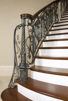 Interior Railing in Luxury Home