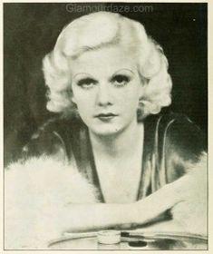 1933 Jean Harlow-22 http://glamourdaze.com/2013/08/1930s-makeup-the-jean-harlow-look.html