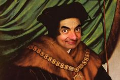 Mr. Bean painted onto seminar because...why not