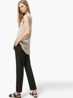 BLACK TROUSERS WITH ELASTIC