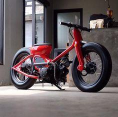 Red or Yellow? Drop a comment below and let us know. - Honda super cubs FTW - @dapper.garage #honda...
