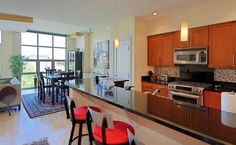 Kitchen and dining nook of Justice Sonia Sotomayor's DC condo.