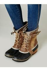 Sorel Conquest Carly Short Boot in Brown (Autumn Bronze) - Lyst