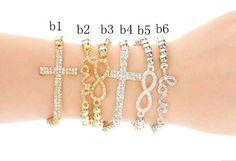Infinity bracelet, cross bracelet, love bracelet,korea velvet,leather bracelet, Friendship bracelets, personalized bracelets charm  bracelet on Etsy, $12.87