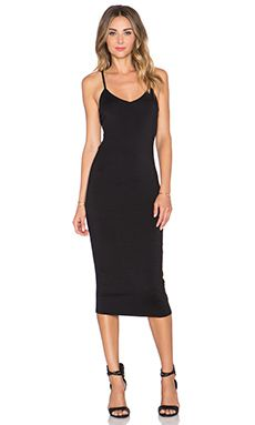 Rachel Pally x REVOLVE Low Back Midi Dress in Black