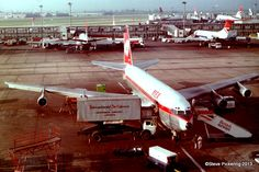OD-AFB (cn 20224) Boeing 707-3B4C, Middle East Airlines, London Heathrow 1980. Photo: Steve Pickering