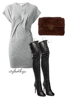"""""""Untitled #67"""" by holly-drage on Polyvore featuring IRO, Schutz and Chanel"""