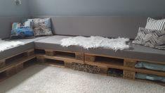 loungeset, kussens op maat , maatkussens Decoration, New Homes, Bench, Storage, Furniture, Home Decor, Minimalist Decor, Decor, Purse Storage