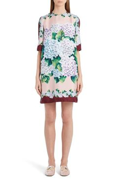 135fcdf2820 Main Image - Dolce Gabbana Hydrangea Print Silk Shift Dress Ladies Dress  Design