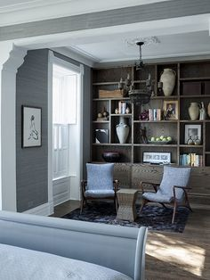 Asymmetrical Built In Bookshelves Design, Pictures, Remodel, Decor and Ideas - page 4