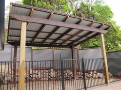 Pergola with Corrugated Metal Roof | ... frame & colorbond ... #pergolawithroof