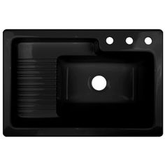 CorStone Black Acrylic Self Rimming Laundry Sink. $266 Amazing Warrantee