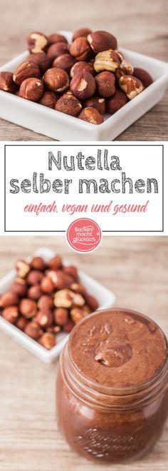 Gesundes Nutella selbermachen: Lust auf gesundes Nutella? Mit diesem Rezept für Schokoaufstrich könnte ihr veganes, zuckerfreies, low carb Nutella machen, funktioniert auch ohne Nüsse.
