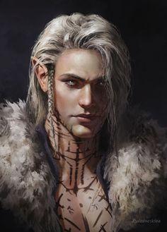 Fantasy Male, High Fantasy, Dark Fantasy Art, Medieval Fantasy, Fantasy Artwork, Elf Characters, Dungeons And Dragons Characters, Fantasy Characters, Game Of Thrones Characters