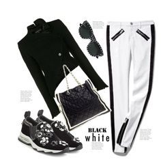 """""""Monochrome"""" by hattie4palmerstone ❤ liked on Polyvore featuring Fendi, Ann Demeulemeester and Yves Saint Laurent"""