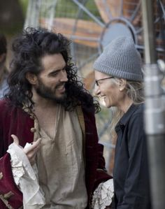 Russell Brand & Annie Leibovitz. Russell as Captain Hook - he makes a FAB Cap'n Hook