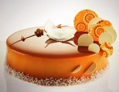 Caramelia chocolate, coconut, mango/orange cake..... Think Pastry by Michel Willaume