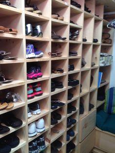 Custom shoe wall