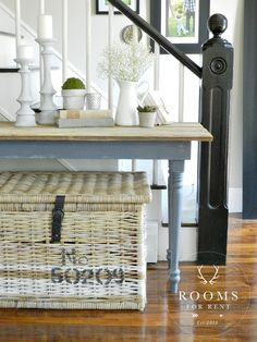 painted antique console table w/ @CountryChicP