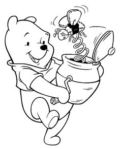 Pooh free printable coloring pages
