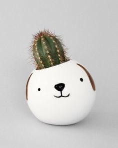 diy flowerpot cactus pot plant dog ceramics keramiek