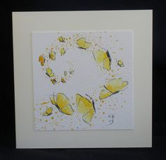 Grußkarte Gelbe Blumen