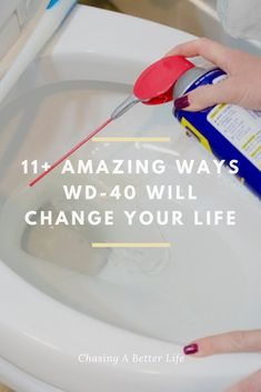 These WD-40 hacks are amazing! I'm so glad I found these AWESOME hacks! Now I have some things to try! It seriously has so many uses I was unaware of!!! ! So pinning this! #hacks #WD40 #cleaning #stains