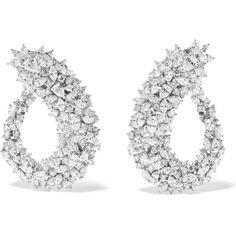 Yeprem 18-karat white gold diamond earrings (€41.710) ❤ liked on Polyvore featuring jewelry, earrings, 18 karat gold jewelry, 18 karat gold earrings, 18k jewelry, white gold diamond earrings and white gold jewellery