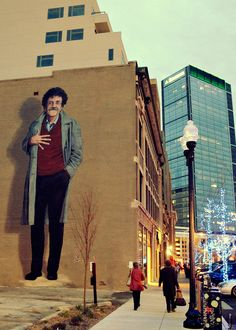 Kurt Vonnegut mural in Indianopolis, Indiana